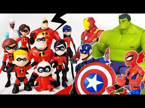 Incredibles 2 Jack-Jack is in Danger, Go Avengers~! Spider Man, Hulk, Iron Man, Captain America