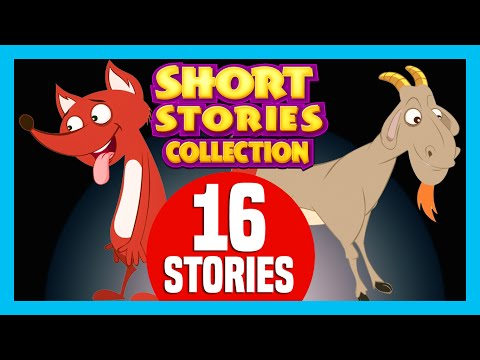 SHORT STORY for CHILDREN (16 Moral Stories) | The Fox and The Goat & more
