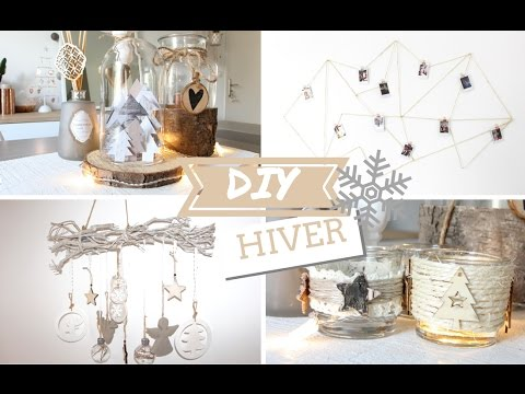 diy no l 4 objets pour une d co hivernale youtube. Black Bedroom Furniture Sets. Home Design Ideas