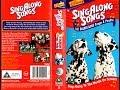 Sing Along Songs - 101 Dalmatians Pongo and Perdita UK VHS 1997