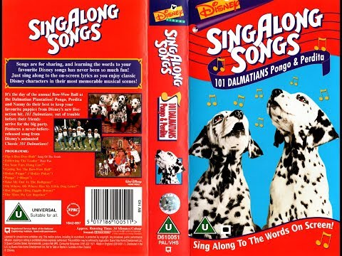 Sing Along Songs  101 Dalmatians Pongo and Perdita UK VHS 1997