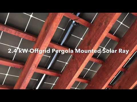 Pergola Mounted Offgrid 2.4kW Solar Setup
