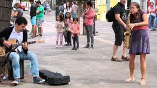 Hit the road, Jack - Amazing saxophonist in Portobello Road