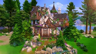 🌲🧙♀️ Magical Forest Cottage No Cc | The Sims 4 - Speed Build