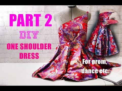 diy-one-shoulder-corset-dress-for-prom,-dance,-homecoming-etc-part-2-end