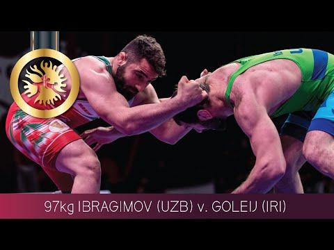 GOLD FS - 97 kg: M. GOLEIJ (IRI) v. M. IBRAGIMOV (UZB)