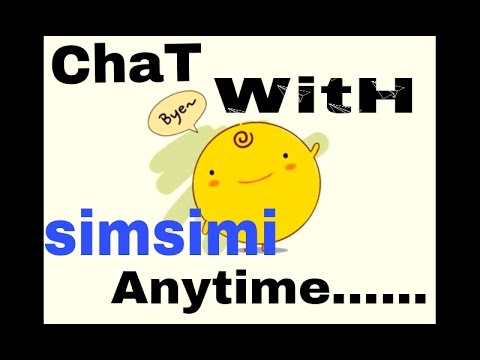 How To Work With Simsimi  Chat With Simsimi Anytime