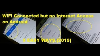 WiFi connected but no internet access on Android 5 Easy Ways Fixed [2019]