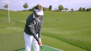Bernhard Langer explaining how to Draw and Fade the golf ball