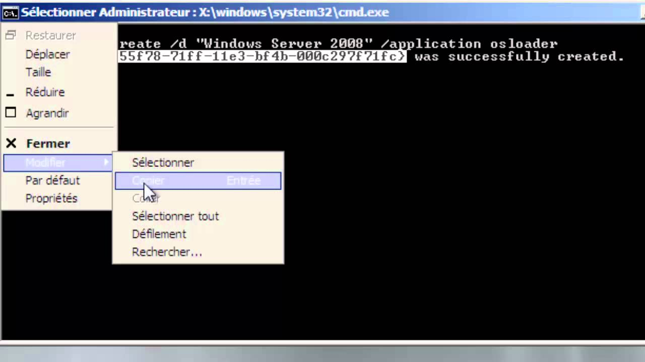 bootmgr is missing server 2008
