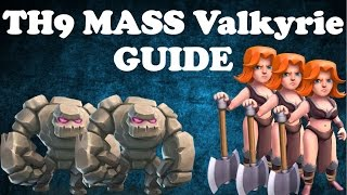 NEW OP Strategy - Mass Valkyrie FULL Guide For War - Farming - Pushing | Th9 3 Stars