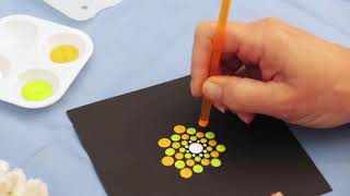 Beginners Dot painting mandala with Happy Dotting tools