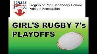 Girl's Rugby 7's Playoffs G8,9,10,11 :)