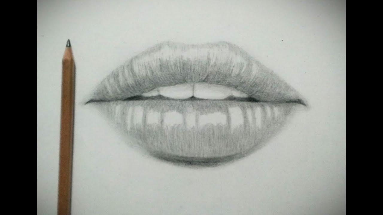 鉛筆画口の描き方唇の描き方 How To Draw The Mouth Lips Youtube