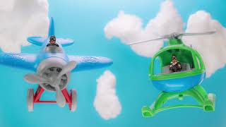 Green Toys Airplane And Helicopter Stop Motion Cinemagraph