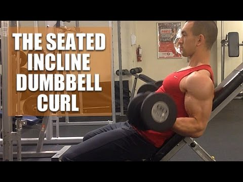 The Seated Incline Dumbbell Curl (Top Bicep Curl Variation)