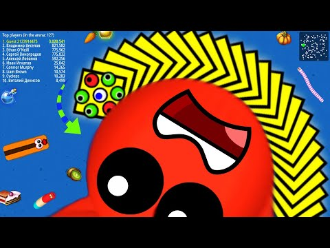 WormsZone.io 001 Pro Slither Snake Top 01 /Best World Record Snake WormsZoneio Epic Gameplay #16