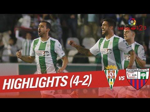 Resumen de Córdoba CF vs Extremadura UD (4-2)