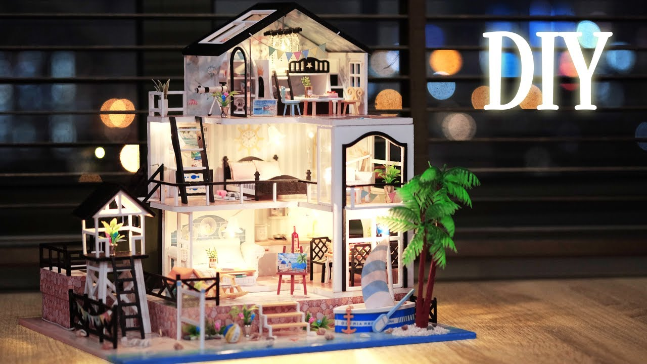 DIY Miniature Dollhouse Kit || Beach Home - Miniature Land