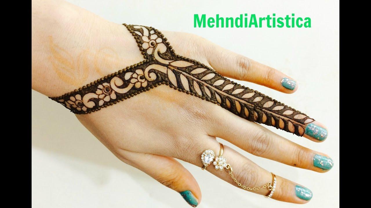 Mehndi Designs Alphabets : Simple mehndi design for left hand makedes