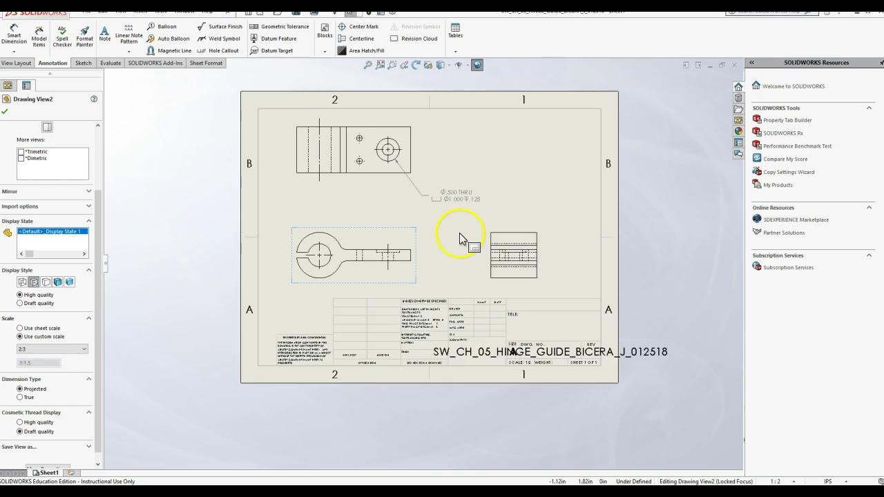 LECTURE 022019 USING HOLE DIMENSION ANNOTATION