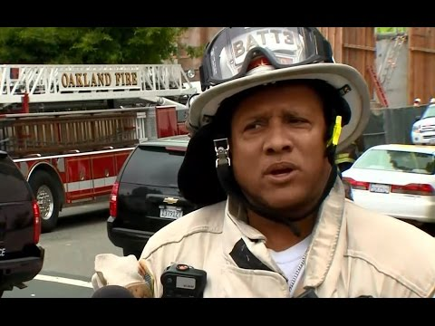 BUILDING COLLAPSE:  Oakland Fire Battalion Chief Ian McWhorter talks about building collapse and inj