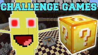 PopularMMOs Pat and Jen Minecraft: BANANA BOSS CHALLENGE GAMES - Lucky Block Mod - Modded Mini-Game