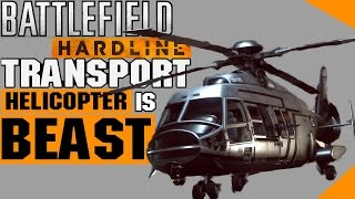 Battlefield Hardline - Transport Helicopter is BEAST - PS4