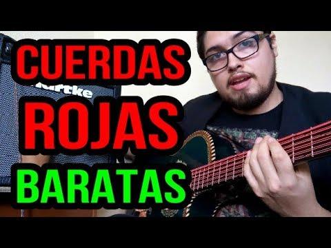 CUERDAS ROJAS BARATAS - Eclipse Rojas Bajo Sexto y Quinto - Review