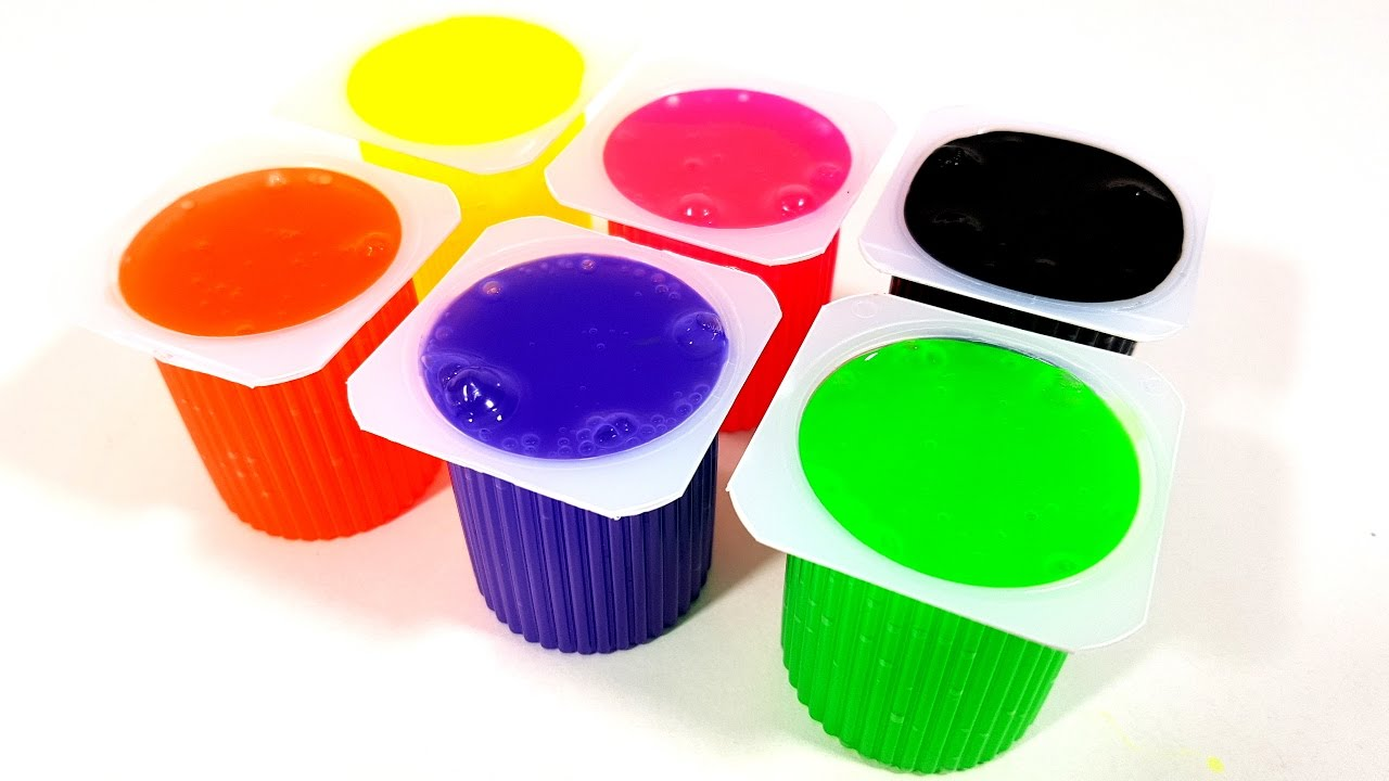 Learn Colors With Yogurt Slime Clay Surprise Toys For