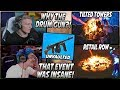 Tfue & Ninja React To The DRUM GUN Being UNVAULTED & Tilted Towers/Retail Row DESTROYED!