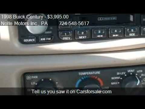 1998 Buick Century Custom For Sale In Kittanning Pa 16201 Youtube