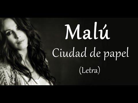 Malú - Ciudad de Papel - Letra
