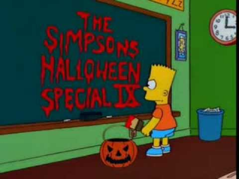 simpsons treehouse of horror ix 9 intro youtube