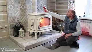 Давно хотел сделать видео обзор норвежской печи Jotul F500. Отопление частного дома зимой