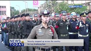 Security stepped up across the country for Loy Krathong fest