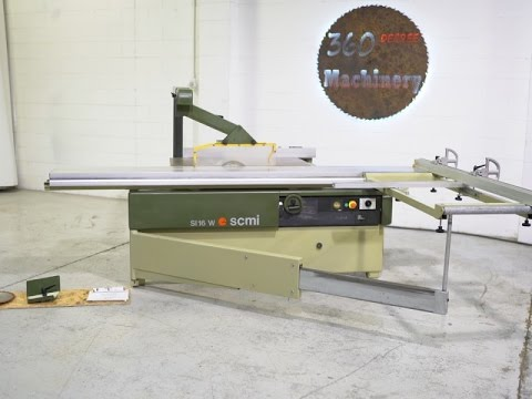 scmi model si 16 w sliding table saw youtube rh youtube com Aluminum Panel Saw Holz Her Panel Saw Blade