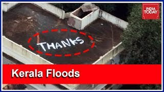 THANKS Painted On Kochi Rooftop After Navy Rescues Pregnant Woman   Kerala Floods