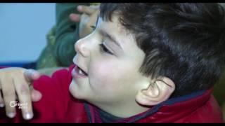 الجدة هند آخر ما تبقى لحفيدين فقدا والديهما جراء قصف النظام لحمص