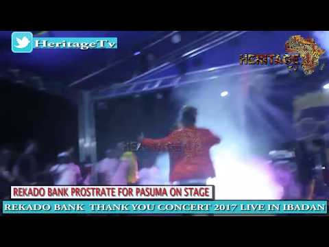 REKADO BANKS PROSTRATE FOR PASUMA @ HIS THANK U CONCERT IN I