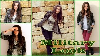 SMOKEY EYELINER | Military / Camouflage Look | Make-Up & Outfit