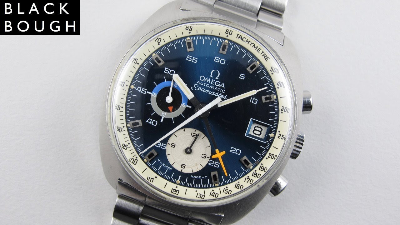 Omega Seamaster Ref 176 007 Vintage Chronograph Wristwatch Circa