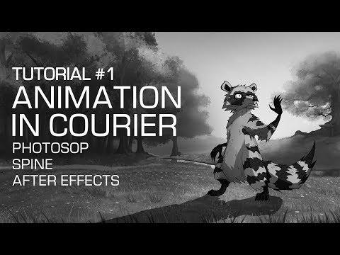 "Видеоурок #1: Анимация в ""Курьере"" [Photoshop, Spine, After Effects]"