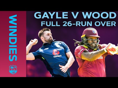 26 Off ONE Over! | Chris Gayle vs Mark Wood Epic Over in Full | Windies