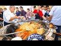 Street Food in Uzbekistan - 1,500 KG. of RICE PLOV (Pilau) + Market Tour in Tashkent!
