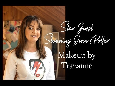 Star guest Gina Potter in Trazanne's Makeup attic