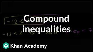 Compound inequalities | Linear inequalities | Algebra I | Khan Academy