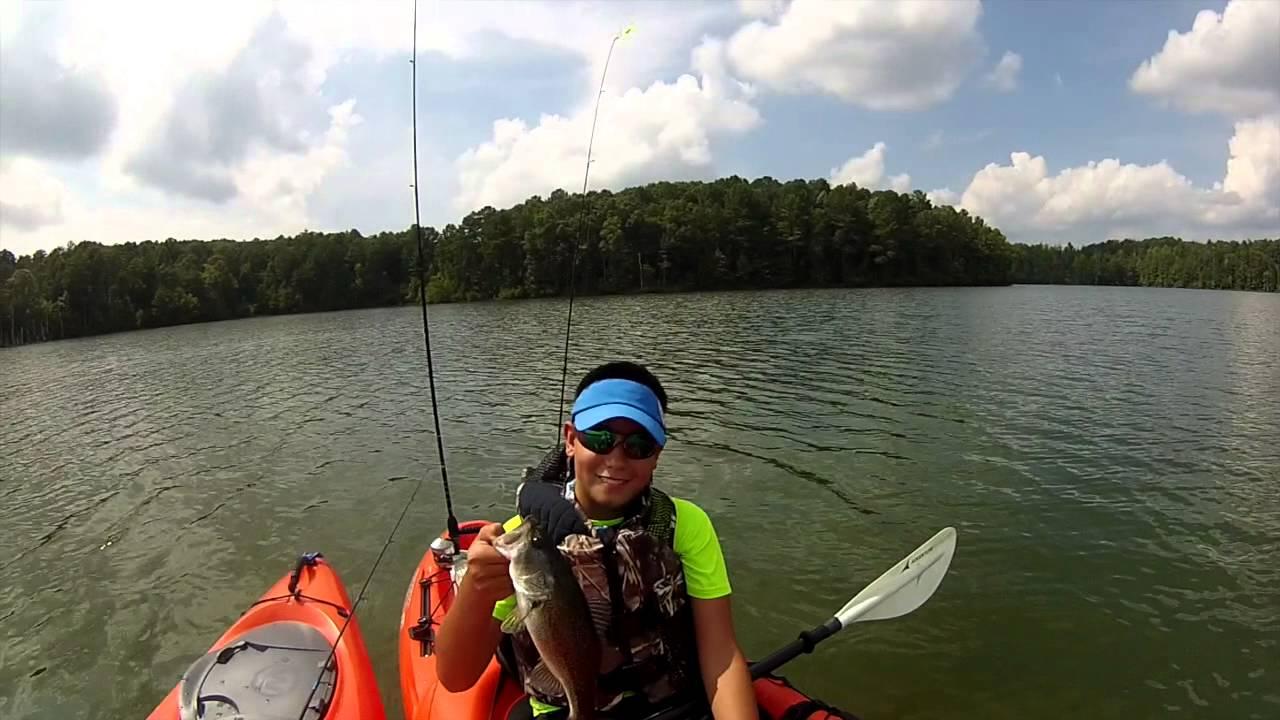 Kayak fishing at lathem reservoir dawsonville georgia for Georgia out of state fishing license