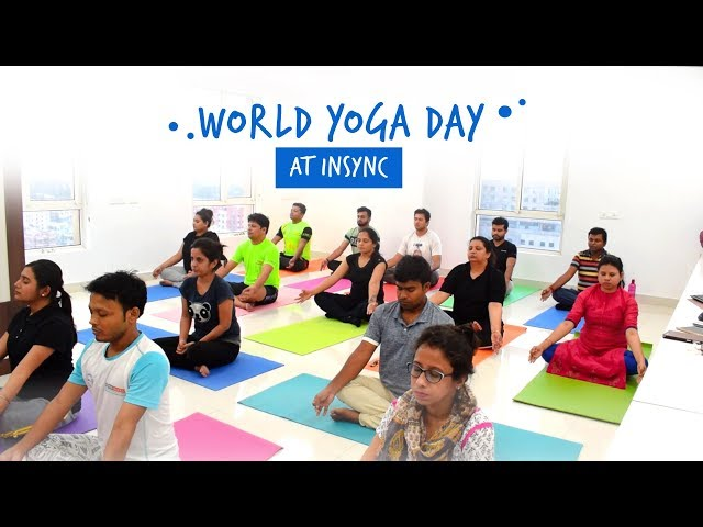 International Yoga Day Celebration at Office | Corporate Fitness | InSync