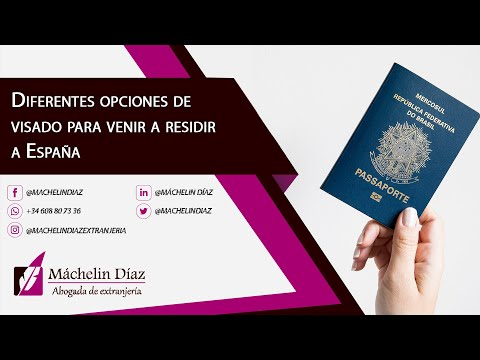Diferentes opciones de visado para venir a residir a España